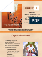 Chapter 03 Basic Elements of Planning