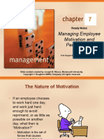 CHAPTER 07 Managing Employee Motivation and Performance