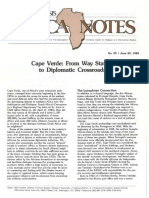 Cape Verde From Way Station to Diplomatic Crossroads