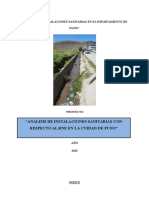 ANALISIS DE INSTALACIONES SANITARIAS EN PERU-PUNO