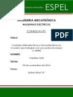 Centrales Hidroelectricas y Termoelectricas