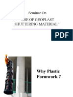 Use of Geoplast Shuttering Material [Autosaved]