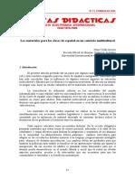 8. Materiales Para Clases de Español en Un Contexto Multilingue