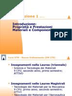 2014-15 Lez 01 - Ottobre - Introduzione, Proprietà Dei Materiali