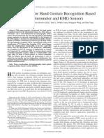 Zhang X. Et Al. (2011) - A Framework for Hand Gesture Recognition Based on Accelerometer and EMG Sensors
