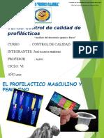 Tema Profilacticos -Control de Calidad
