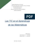 TIC en El Aprendizaje de La Matematica