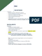 Requisitos de Grados y Títulos.
