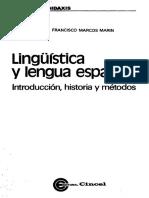 Linguistica y Lengua Española
