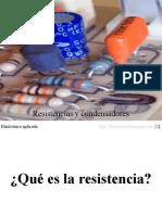 resistencias y condensadores