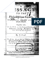 Jane Lead - 1st and 2nd Message to the Philadelphian Society - Digitized Original Book