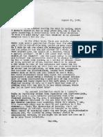 Eric Berne Letter to Henry Simon, 1956-08-21