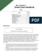 class handbook 14-15