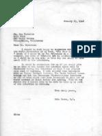 Eric Berne Letter to Ken Carnahan, 1948-01-23