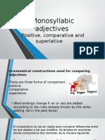 Monosyllab adjetives