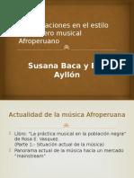 Comparaciones en El Estilo Del Género Musical Afroperuano