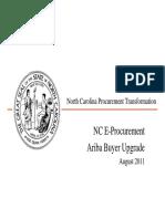 Ariba Buyer Upgrade Session Briefing NCAS