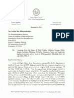 "West Virginia ""Administrative Fix"" Letter (12/26/13)"