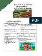 Proyecto Del Club Escolar de Jardineria