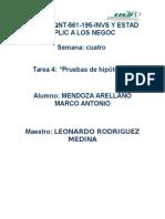 Mendoza Arellano S4 T4Pruebas de Hipótesis
