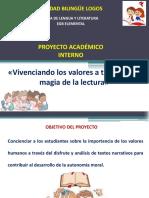 Proyecto Vivenciando los valores a través de la lectura