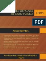 Funciones Esenciales de Salud Publica 1
