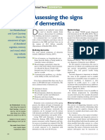Assessing the Signs of Dementia