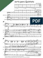 Piazzolla - Concierto Para Quinteto [Pno, Bd, Vln, Guit, Cb Ver2]