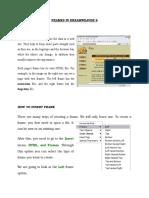 Frames in Dreamweaver 8 Homework