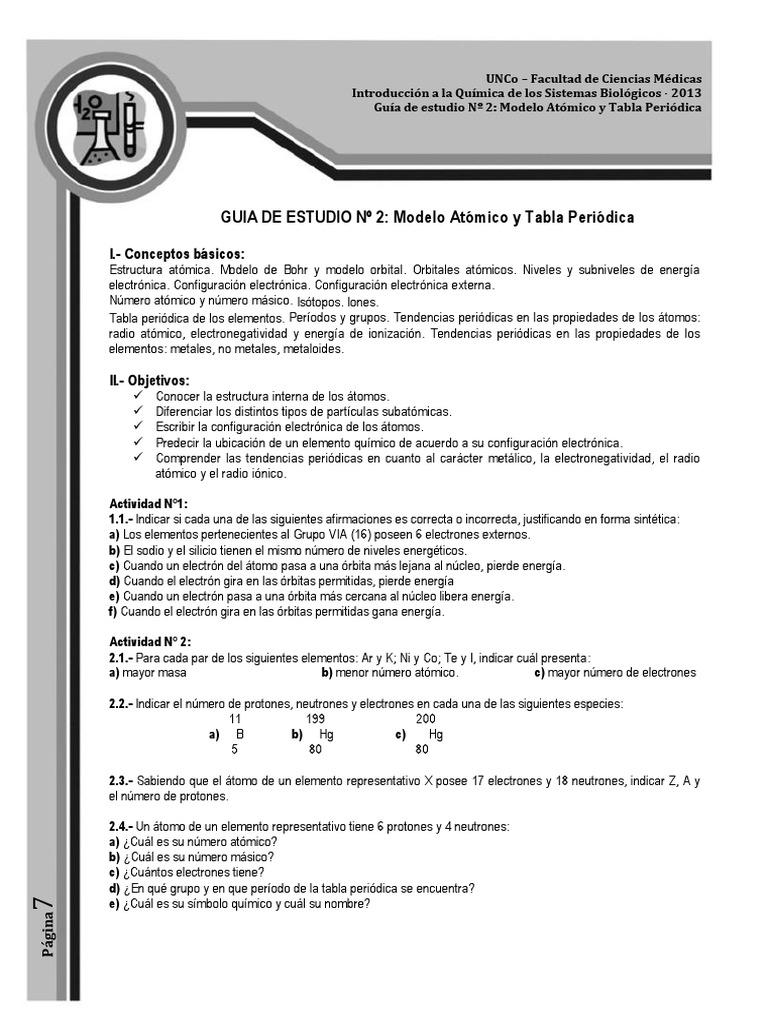 03 _guia_de_estudio_2_10_ - Tabla Periodica Grupos Periodos Electronegatividad Y Radio Atomico