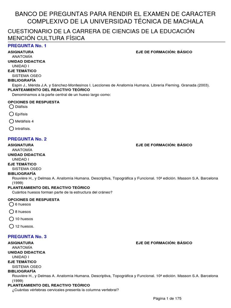Vistoso Banco De La Anatomía Y La Fisiología De Prueba Regalo ...