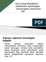 Informasi Yang Disajikan Melalui Statemen Keuangan (Laporan