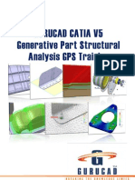GURUCAD CATIA V5 Generative Part Structural Analysis GPS Training De