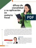 Control Difuso de Convencionalidad y Su Aplicacion en Materia Fiscal