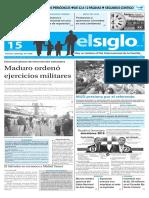 Edición Impresa El Siglo 15-05-2016