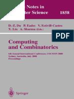 COmputing and Combinatoria