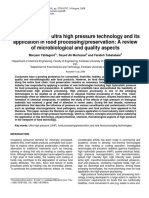 High hydrostatic Pressure and Food