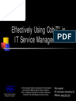 CobiT and ITSM