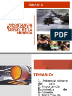 Importancia Economica y Social de La Minería
