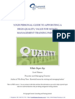 Management Training White Paper