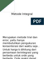 Metode Integral