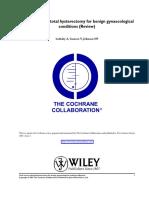 Cochrane - Histerectomia Total vs Subtotal