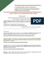 Antologia toxicologica del Glifosato