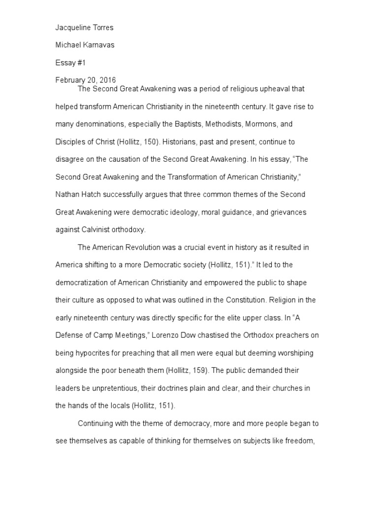 analytical essay on the second great awakening methodism  analytical essay on the second great awakening methodism monotheistic religions
