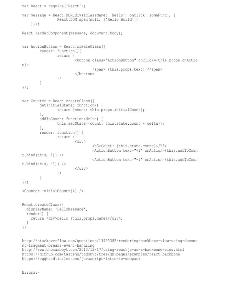 React Learning   Java Script   Document Object Model