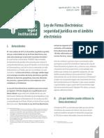 Ley de Firma Electrónica Seguirdad Jurídica en El Ambito Electrónico
