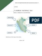 Balance de Energía en El Peru 2014