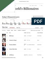 The World's Billionaires List - Forbes