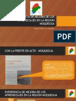 Experiencia de Mejora de Los Aprendizajes en La Region Moquegua 10.12