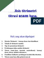 4.Titrimetric Analysis. Acid_Base Titration